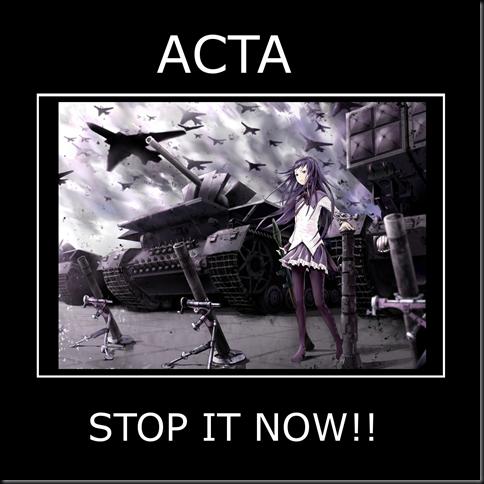 Homura STOP ACTA