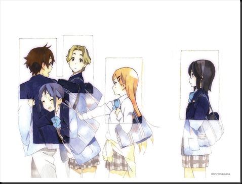 aoki_yoshifumi horiguchi_yukiko inaba_himeko kiriyama_yui kokoro_connect nagase_iori  yaegashi_taichi